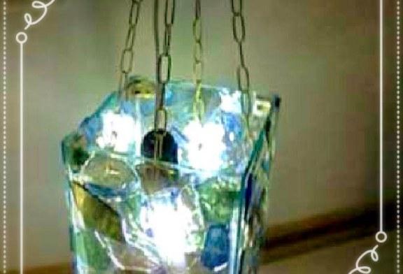 آموزش ساخت چراغ آویز با استفاده از شیشه خورده