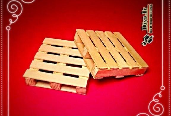 آموزش پروژه ساخت زیرلیوانی طرح پالت چوبی