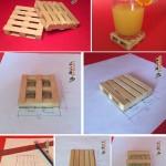 پالت چوبی برای زیرلیوانی