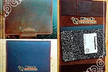 آموزش ساخت کاور چرمی برای دفترچه یادداشت