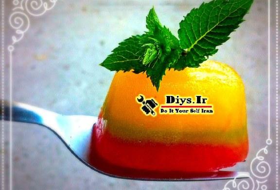 طرز تهیه حبه یخ رنگی میوه ای