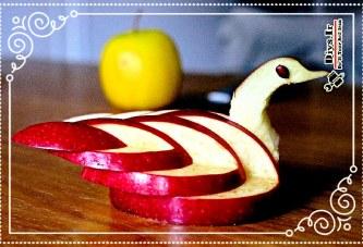 آموزش تزیین سیب