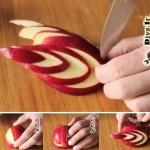 تزیین سیب برای دسر