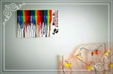 آموزش اثر هنری رنگین کمان مداد شمعی روی بوم
