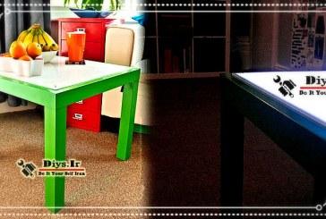 آموزش چگونه ساخت میز نور در خانه