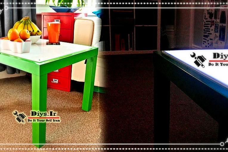 آوزش ساخت میز نور led