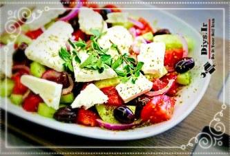 طرز تهیه سالاد یونانی