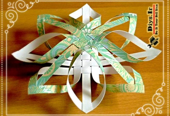 آموزش چگونه ساخت ستاره کاغذی اوریگامی