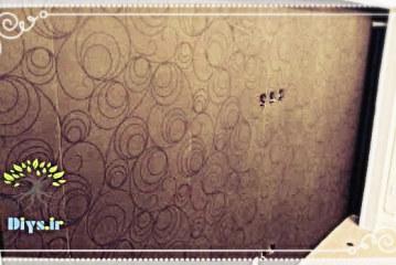 آموزش تصویری نصب کاغذ دیواری