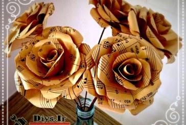 آموزش چگونه طرز ساخت گل کاغذی در خانه