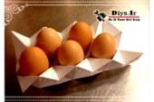 آموزش تصویری ساخت شونه تخم مرغ کاغذی