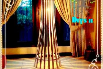 آموزش تصویری ساخت آباژور ایستاده چوبی