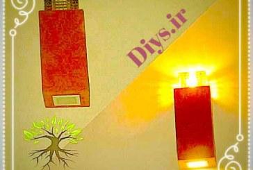 آموزش تصویری ساخت دیوارکوب چوبی LED (چرمی)
