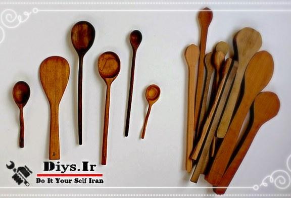 آموزش تصویری ساخت قاشق چوبی دست ساز