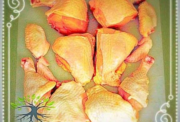 آموزش تصویری مراحل خرد کردن مرغ