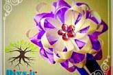 آموزش تصویری ساخت گل با روبان تزیینی در خانه