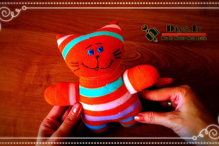 عروسک جورابی گربه
