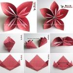 آموزش اوریگامی گل