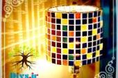 آموزش تصویری ساخت چراغ موزاییکی فانتزی
