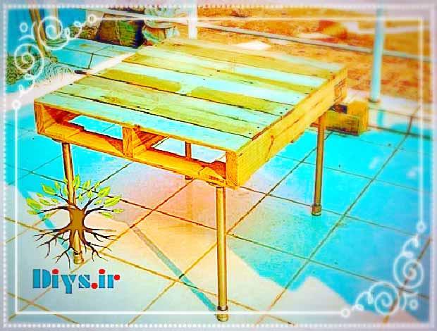 آموزش تصویری ساخت میز چوبی با پالت
