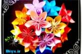 آموزش ساخت گل اوریگامی ژاپنی Kusudama