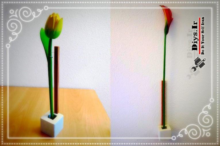 ساخت گلدان چوبی