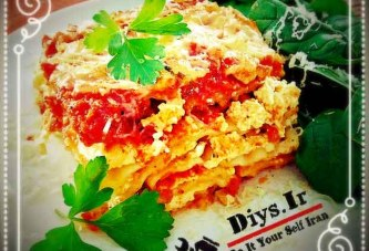 آموزش طرز تهیه لازانیا پنیری ایتالیایی