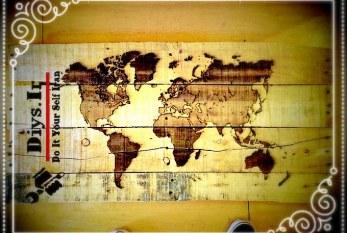 آموزش ساخت تابلو نقش جهان چوبی