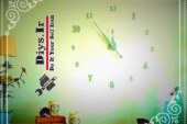 آموزش تصویری ساخت ساعت دیواری عددی