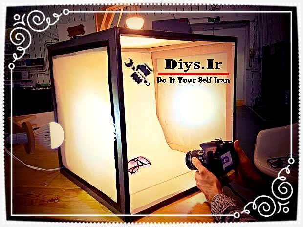 آموزش تصویری ساخت لایت باکس عکاسی در خانه