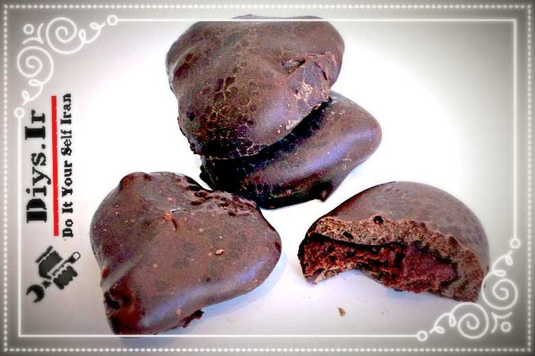 آمورش تصویری طرز تهیه شکلات مربایی