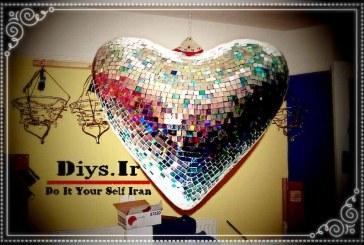 آموزش تصویری مراحل ساخت قلب دیسکو آینه ای