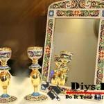 تزیین آینه شمعدان
