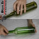 نحوه بریدن بطری