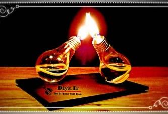 آموزش ساخت چراغ الکلی تزیینی لامپی