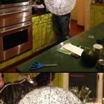 ساخت لامپ آویز کاموایی