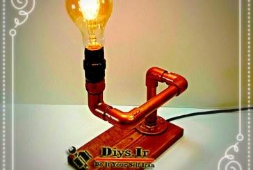 آموزش ساخت چراغ ادیسون دکوری ایستاده