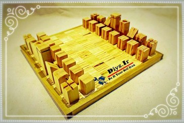 آموزش ساخت شطرنج چوبی ساده دست ساز