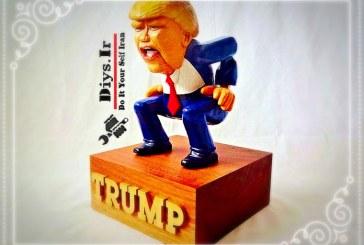 آموزش تصویری ساخت دونالد ترامپ چوبی