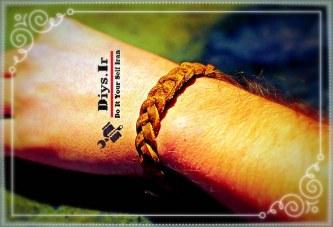 آموزش بافت دستبند چرمی بازیافتی