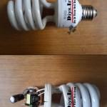 نحوه تعمیر لامپ کم مصرف