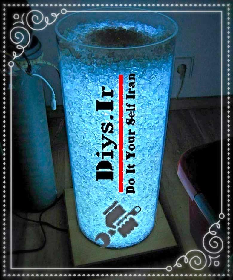 آموزش تصویری ساخت آباژور LED یخی