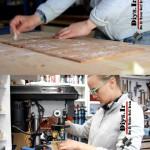 ساخت آباژور چوبی دست ساز