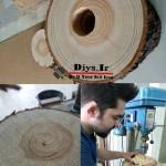 نحوه ساخت دکور با تنه درخت