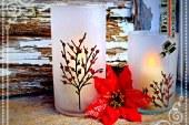 ساخت جا شمعی شیشه ای مات
