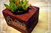 ساخت گلدان دکوری چوبی