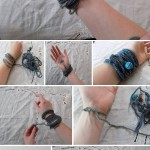 بافت دستبند با مهره