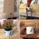 گلدان دست ساز چوبی