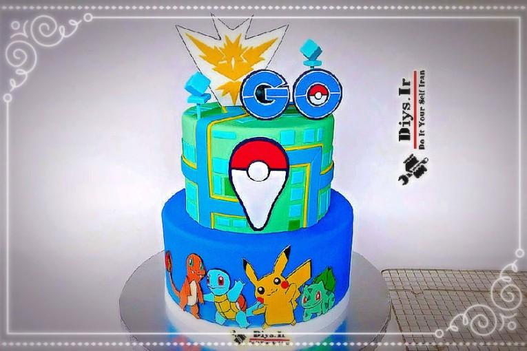 کیک Pokémon Go در خانه
