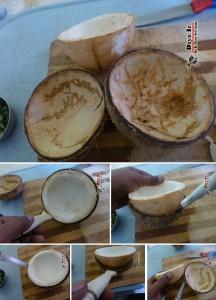 طرز استفاده از نارگیل